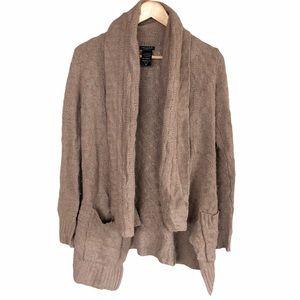 Talula Aritzia Cashmere Tan Sweater Cardigan